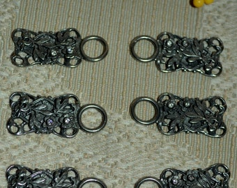 Dirndl Hooks with Rhinestone Accents Set of Six