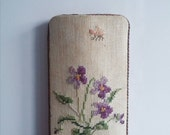 Vintage Spectacle Glasses Sunglasses Case Embroidery