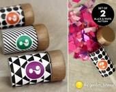 Black & White Confetti Push-Pops for Gender Reveal Parties - Set of 2