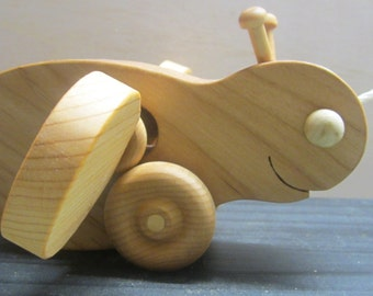 Bumble Bee wood pull along toy wooden toy for children Waldorf inspired toddler gift for a boy or girl keepsake toys