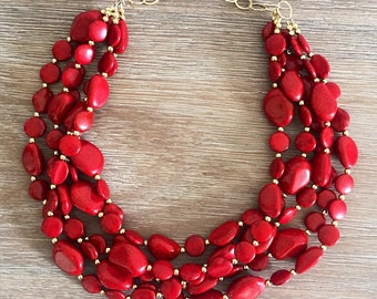 The Perfect Red Coral Necklace LAST ONE