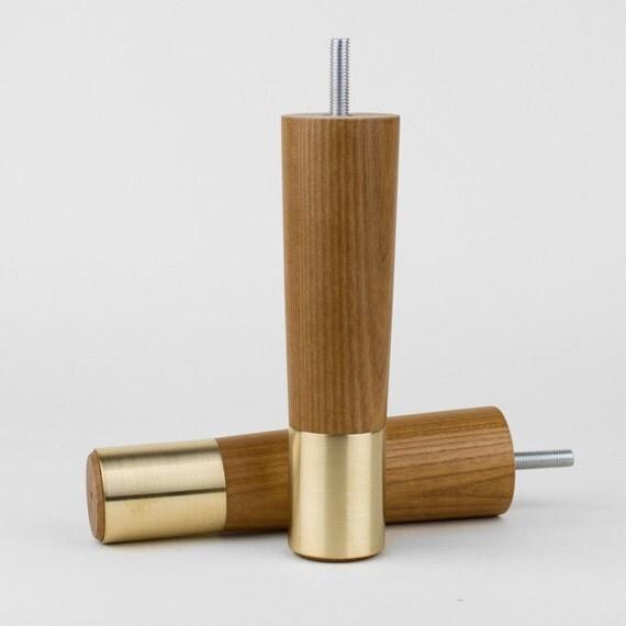 set of 2 mid century modern furniture legs replacement legs