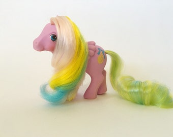 Vintage My Little Pony, Curly Locks, Generation 1 Brush 'n Grow Pegasus by Hasbro Toys