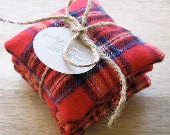 Balsam Sachets Red Plaid Flannel Balsam Fir Gift Set