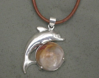 Necklace,Dolphin Necklace,Charm Necklace,Gemstone Necklace,Nautical Necklace,Leather Necklace,silver Necklace,Silver Cham Necklace
