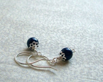 Susan -  Lapis Blue Earrings, Ready to Ship
