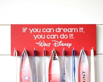Disney Medal Holder - If you can dream it, you can do it. - Medium - Walt Disney Quote