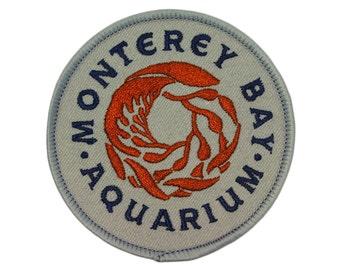 "California Tourist Site ""Monterey Bay Aquarium"" Patch Souvenir Iron-On Applique"