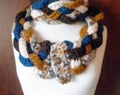 """Scarf """"Winter weave"""" windproof crochet boho"""