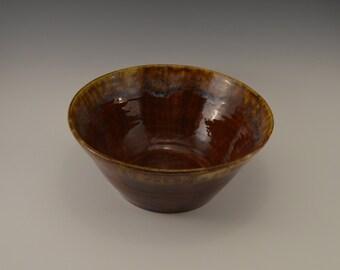 Stoneware salad bowl, pottery fruit bowl, ceramic serving bowl