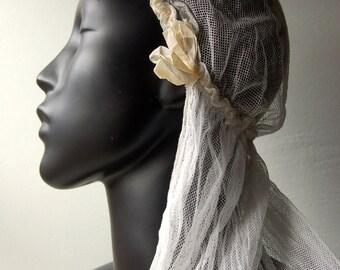 1920-1930 cotton net bridal veil