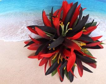 Tropical silk flower hawaiian hair clip (32)