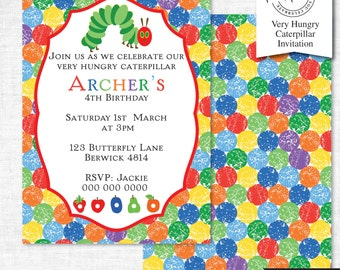 Hungry Caterpillar Party Invitation | Hungry Caterpillar Party Invitation Printable | Hungry Caterpillar Party | Party Printables