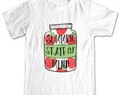 SUMMER STATE of MIND Mason Jar T-shirt Women Men Children Small, Medium, Large, X-Large