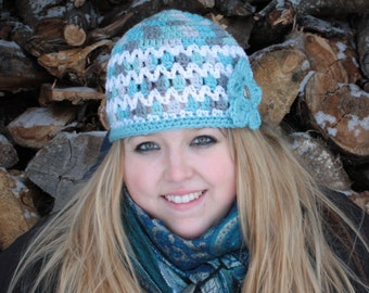SALE PRICED!!! Womens Crocheted Hat/Ready to Ship