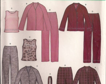 New Look Sewing Pattern 6291 - Women's Pajamas & Bathrobe (6-16)