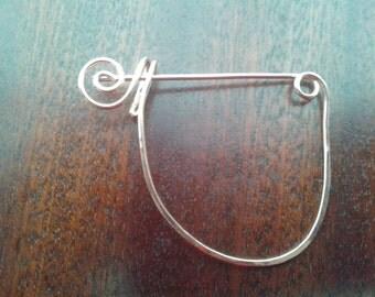 Copper brooch pin