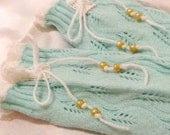 Kids leg warmers , girls leg warmers , mint green toddler leg warmers , bohemian girls leg warmer