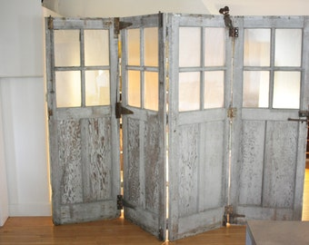 Industrial Carriage House Room Divider