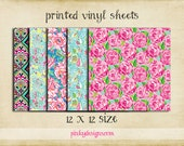 12x12 #1 Lilly Inspired Vinyl Sheets - High Quality Indoor/Outdoor Adhesive Vinyl - Large Print or Tiled - Over 100 Patterns