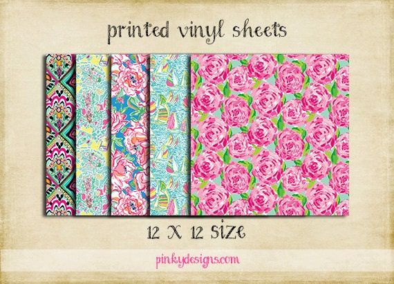 12x12 1 Lilly Inspired Vinyl Sheets High Quality
