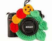 Happy Caterpillar Camera Buddy, Lens Critter, Photography Prop, Caterpillar Lens Friend, Camera Bling, Photography Accessory, Insect Buddy