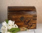 Walnut Wedding Card Box, Keepsake Box, Personalized, Wedding Chest, Wedding Memory Box, Box for Cards, Wedding Gift, Wood Box, LT