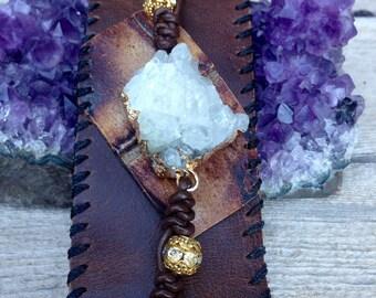Crystal Nugget Cuff Bracelet