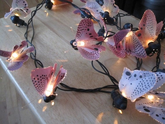 Indoor Butterfly String Lights : Butterfly Fibre Optic Light String Indoor