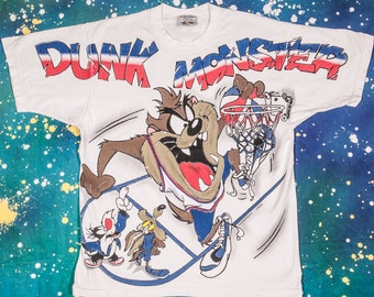 TAZ Dunk Monster Basketball T-Shirt Size L