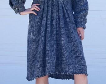 100% wool asymmetric dress