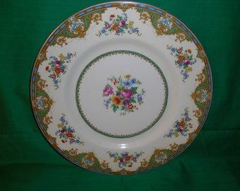 "One (1), 10 3/4"" Dinner Plate, from Myott-Staffordshire, in the MYO 59 Pattern"