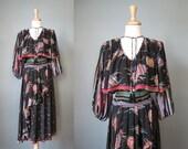Diane Freis Dress / Vtg 80s / Diane Freis bold print dress