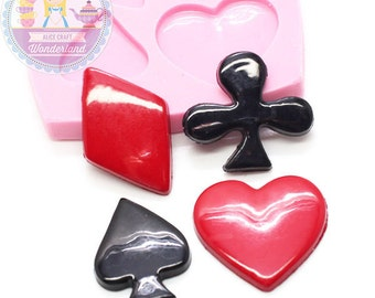 Set of 4 Poke Cabochon Mold Flexible Silicone Bakery Chocolate Fondant Candy FIMO Cupcake Deco Phone Case Deco 657m* Food Safe BEST QUALITY