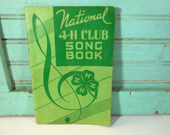 Vintage 1938 National 4-H Club Song Book