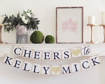 Couples Shower Banner, Couples Shower, Engagement Banner, Engagement Sign, Cheers Banner, Cheers Sign, Engagement Party, engagement ideas