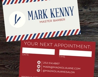 Classic Custom Barber Business Cards - PROFESSIONALLY printed!