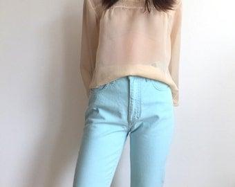 Versace Jeans Couture Vintage Blue Trousers High Waist Jeans Designer Vintage