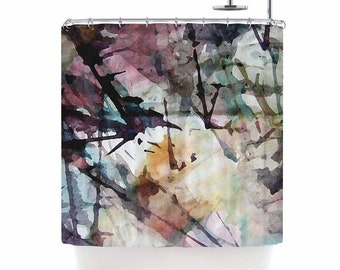 Shower Curtain, Shower Curtains, Pink and Blue Shower Curtain, Pastel, Abstract Art, Home Decor, Painting, Abstract Trees, Art by Malia