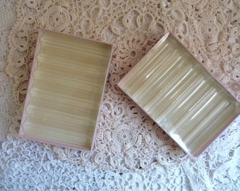 Vintage ACRYLIC KNIFE RESTS, 2 Sets of 6 Boxed, Hard Plastic Rests. 12 Triangular Shaped Rests in Original Boxes.
