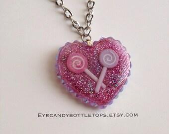 Lollipops Resin Charm Necklace