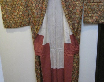 Vintage Kimono,hexagonal pattern,No.12