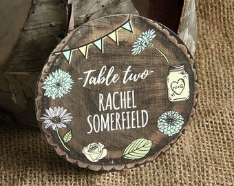 Personalised WHIMSICAL WOODLAND place cards