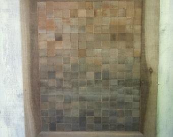"Reclaimed Barn Wood Original Art Work ""Horizon"""
