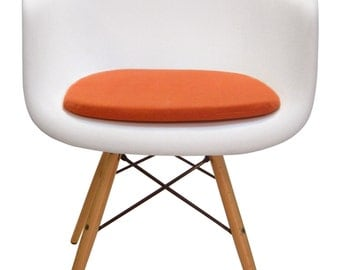 custom cushion for eames molded plastic arm chair miracle fabric