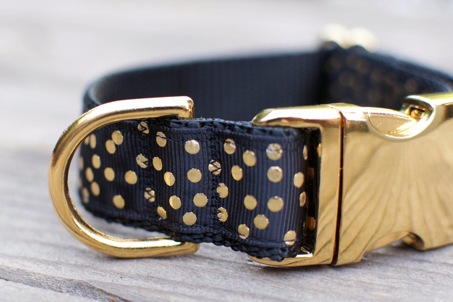 Martingale Dog Collars In Black And Gold