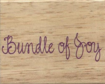 "Bundle of Joy Rubber Stamp--3"" X 2.5""--Greenbrier"