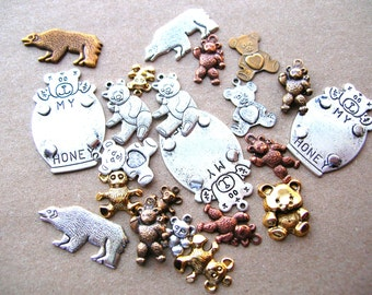 Bear Findings - Scrapbooking - Finding Destash - Charm Destash - Scrapbook Charms