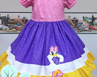 Daisy Duck Costume, Peasant Style,  School Play,  Pretend, Dress-up, Photo Shoot, Birthday Party, Recital, Disney Vacation