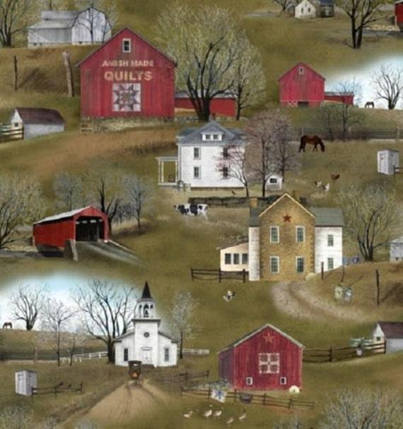 Fat Quarter Headin Home Amish Homestead Quilting Fabric